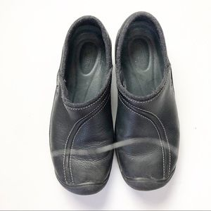 Keen Clogs Work Shoes Black Leather Size 8